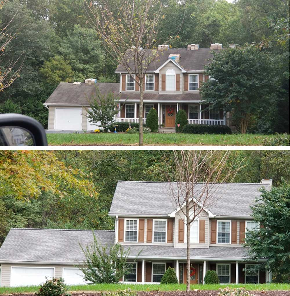 Roof replacement in Charles County