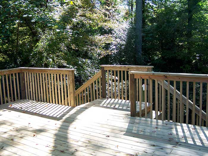 New pressure treated deck