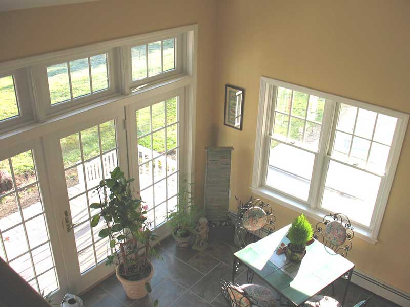 Sunroom addition in home