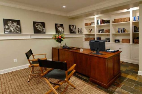 Basement finished with home office